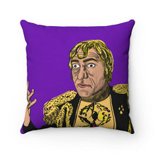 Mogambo Spun Polyester Square Pillow (Purple)