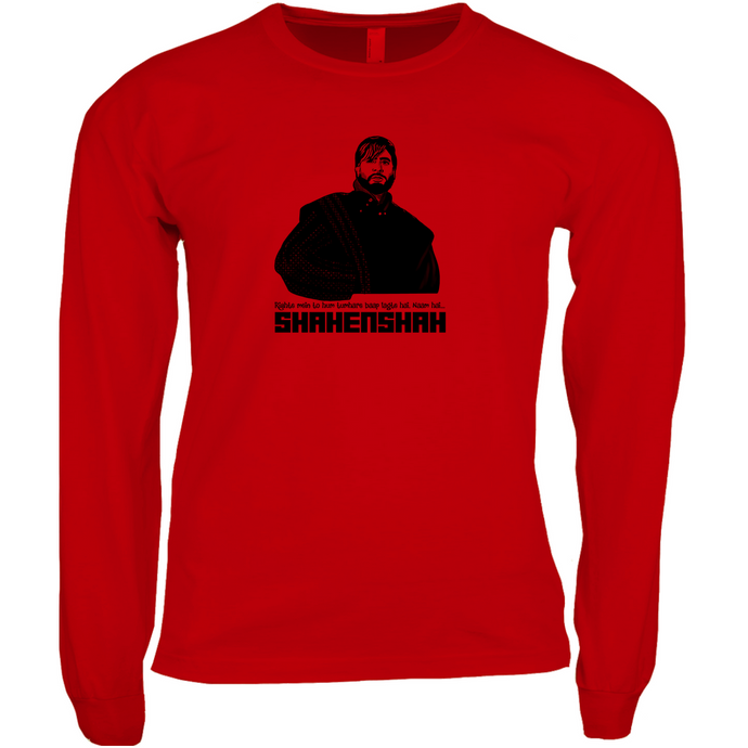 Amitabh's Iconic Shahenshah Men's Long Sleeve T-shirt