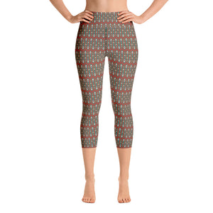 Peacock Abstract Women's Yoga Capri Leggings