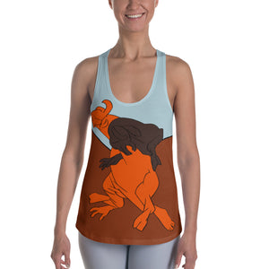 Bull fight Women's Racerback Tank