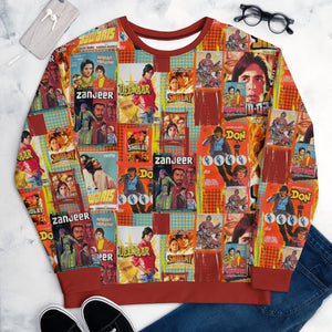 Amitabh Bachchan Modern Art Vintage Collage Collectible Sweatshirt