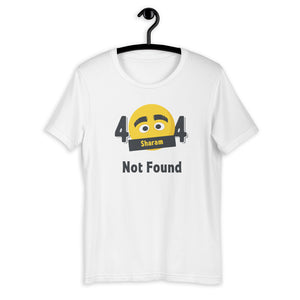 404 Sharam Not Found Short-Sleeve Exclusive Collectible Unisex T-Shirt