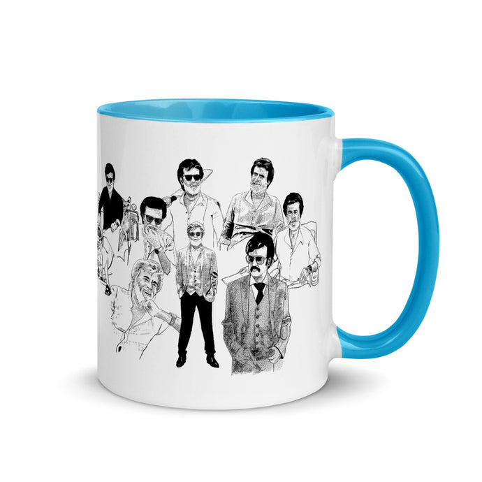 Avatars of Rajanikanth Mug with Color Inside
