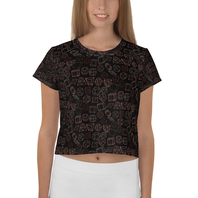 I'm a rare Diamond All-Over Print Women's Crop Tee