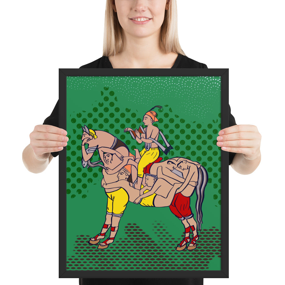 Surreal Sawari Horse Illusion Art Framed poster