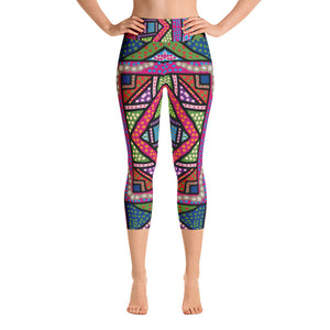 FolkPop Yoga Capri Leggings