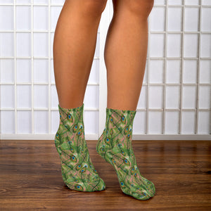Peacock Feathers Ankle Socks