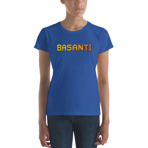 Basanti Womens Pixel Art Women's short sleeve t-shirt