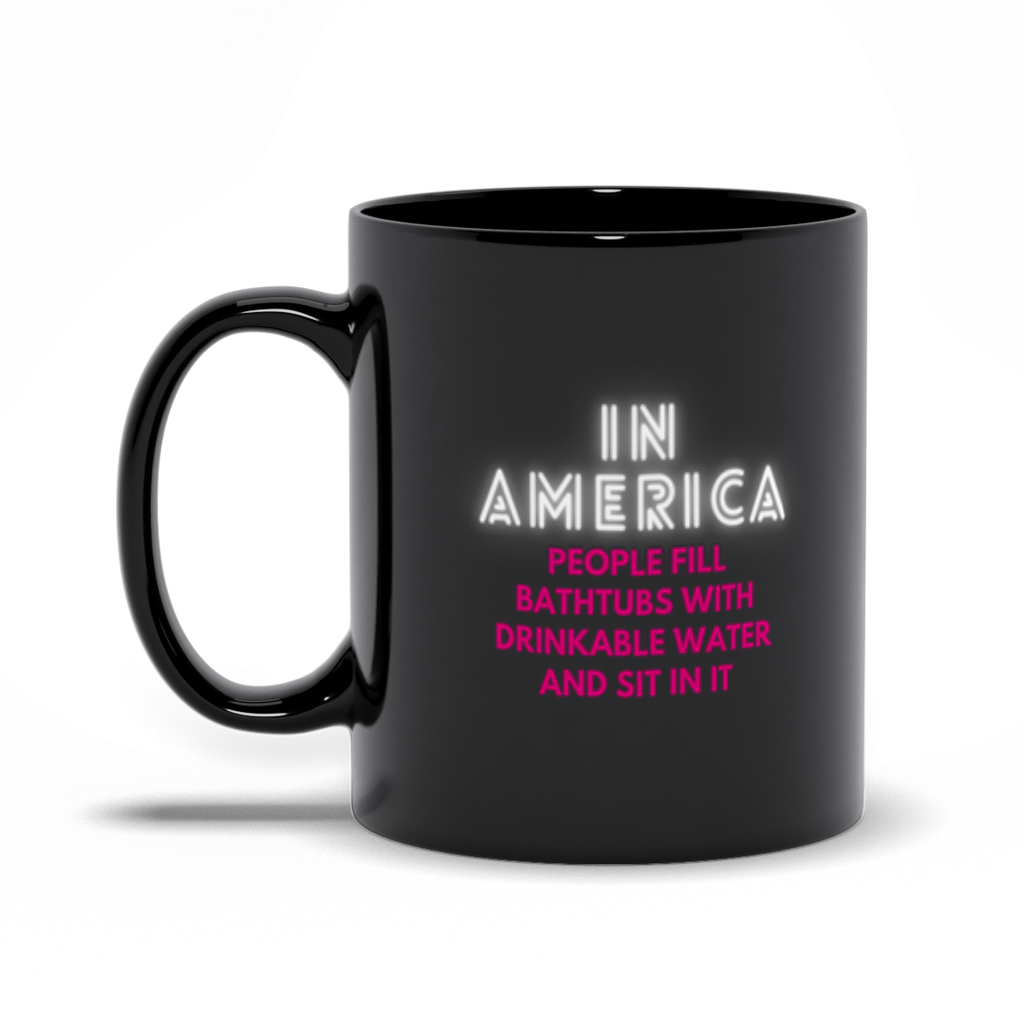 In America Shower Doesn't Stop Until You Stop It Mug (Zarna Garg Collection)