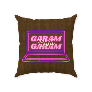 Garam Garam Chai Throw Pillow