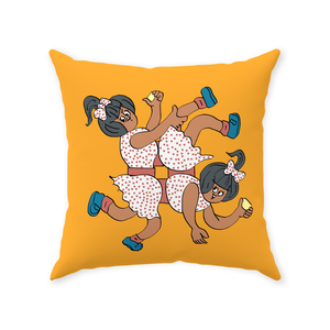 Twinkle Amul Girl Throw Pillow