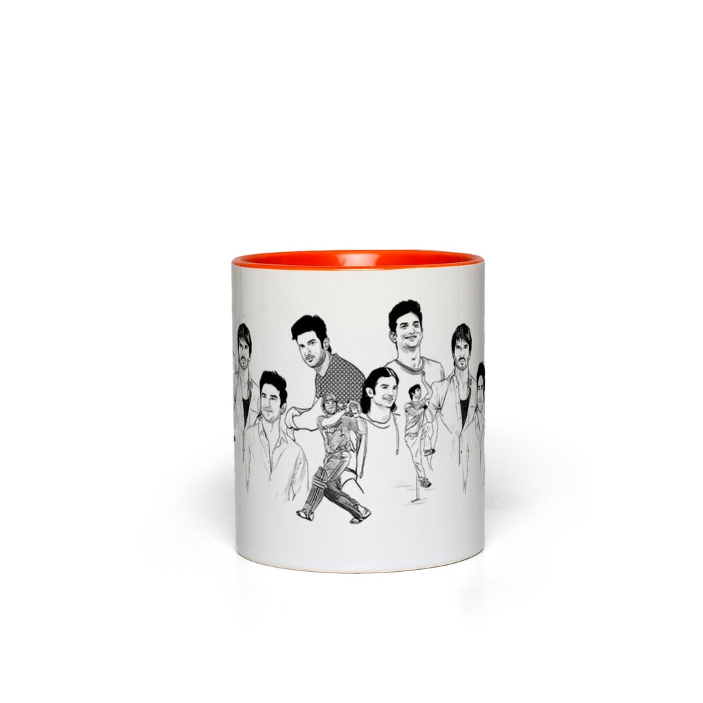 In Memory of Sushant Singh Rajput Accent Mug