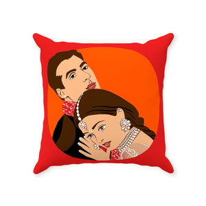 Hum Dil De Chuke Sanam HDDS Bollywood Couple Throw Pillow