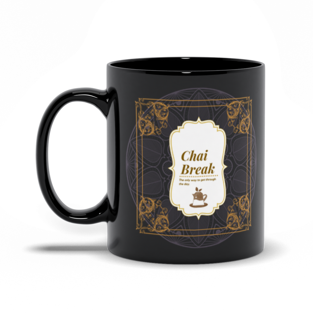 Chai Break Chai Black Mug