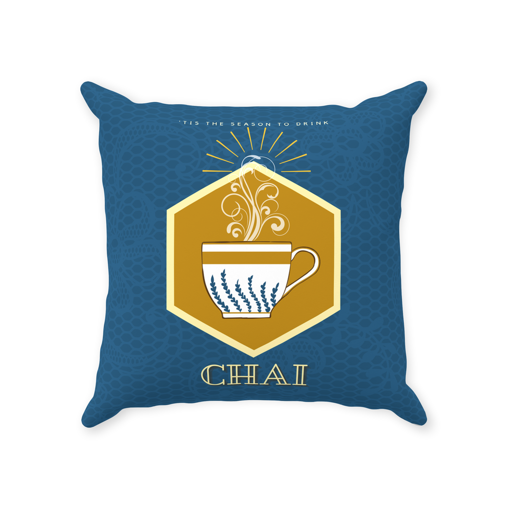 Season to drink Chai Throw Pillow