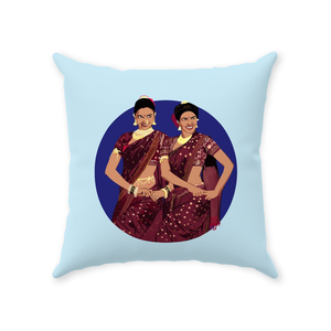 Bajirao Mastani Dancing Duo Deepika and Priyanka Throw Pillow