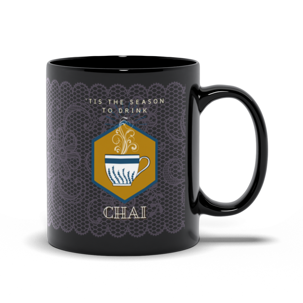 This is the Season to Drink Chai Black Mug