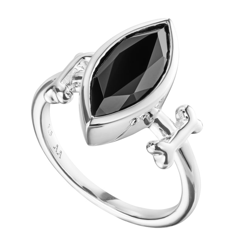 PERSEPHONE - ONYX & STERLING SILVER RING