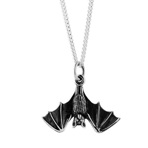 Sterling silver bat necklace gothic alternative witchy wicca jewellery jewelry
