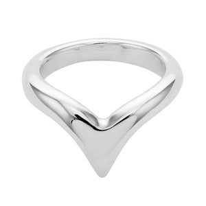 CHUNKY WISHBONE ~ STERLING SILVER RING