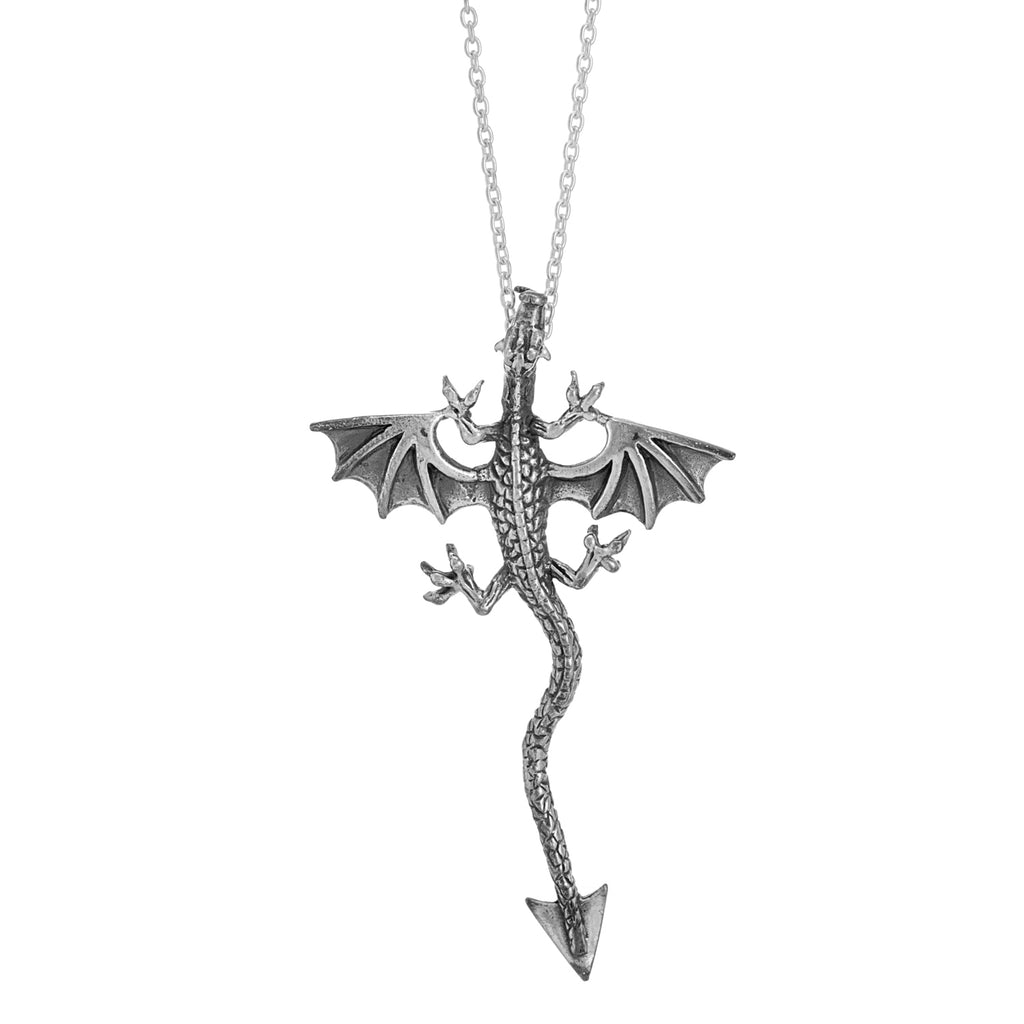 sterling silver dragon necklace gothic witchy accessories alternative jewelry jewellery