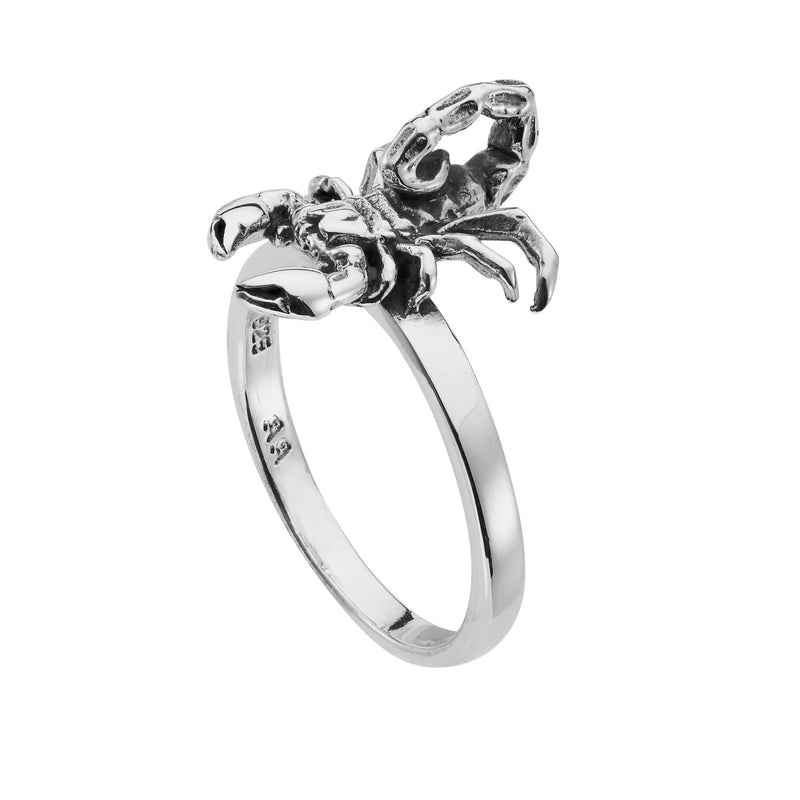 Sterling silver scorpion ring gothic tattoo alternative jewellery jewelry