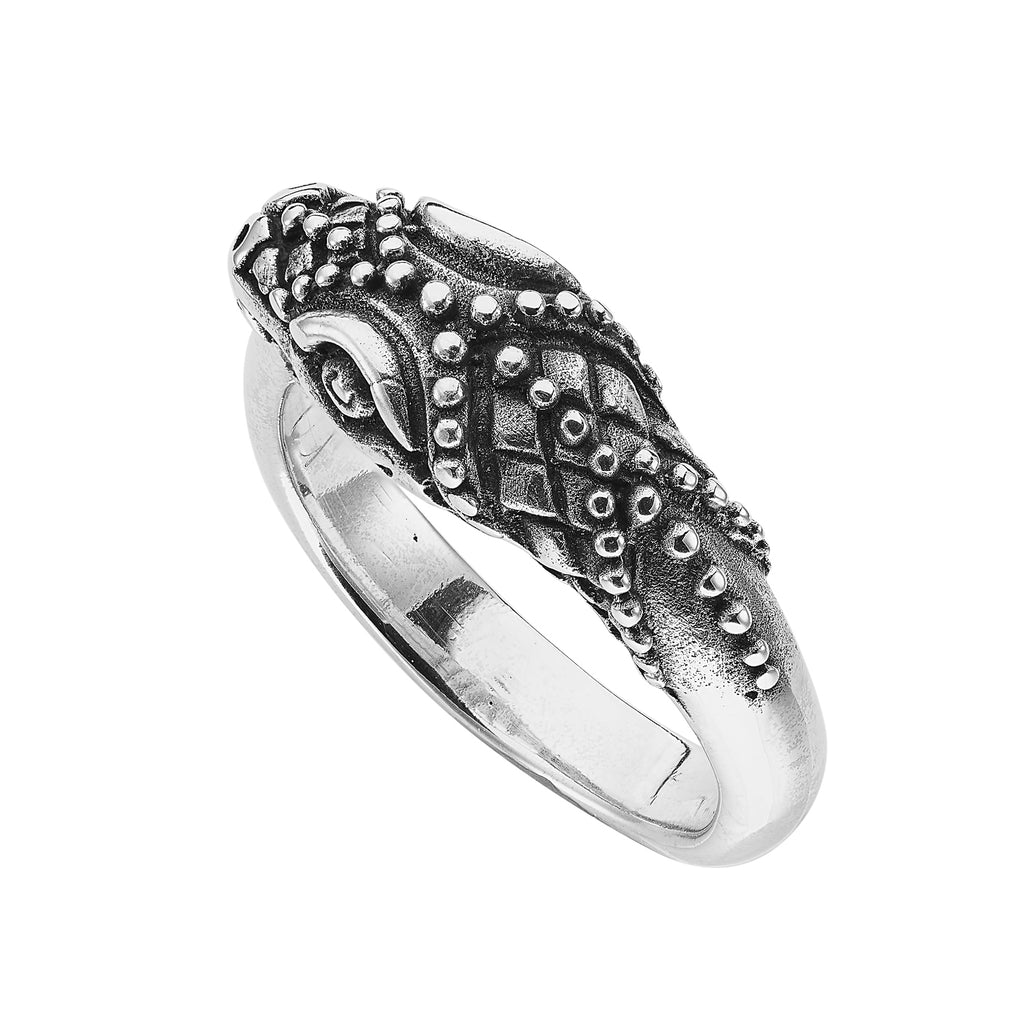 SERPENTINE - STERLING SILVER RING
