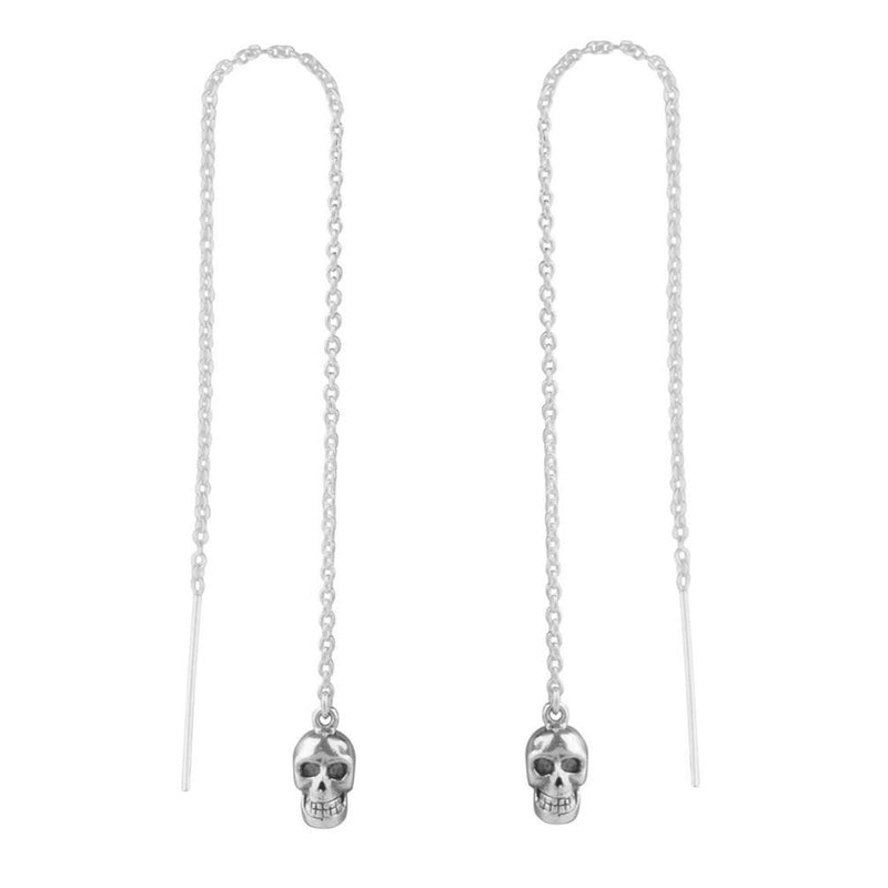 CATACOMB - STERLING SILVER SKULL THREADERS