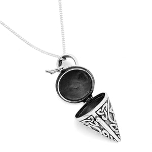 PENTAGRAM LOCKET ~ STERLING SILVER NECKLACE