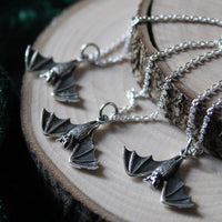 HANGING BAT ~ STERLING SILVER NECKLACE
