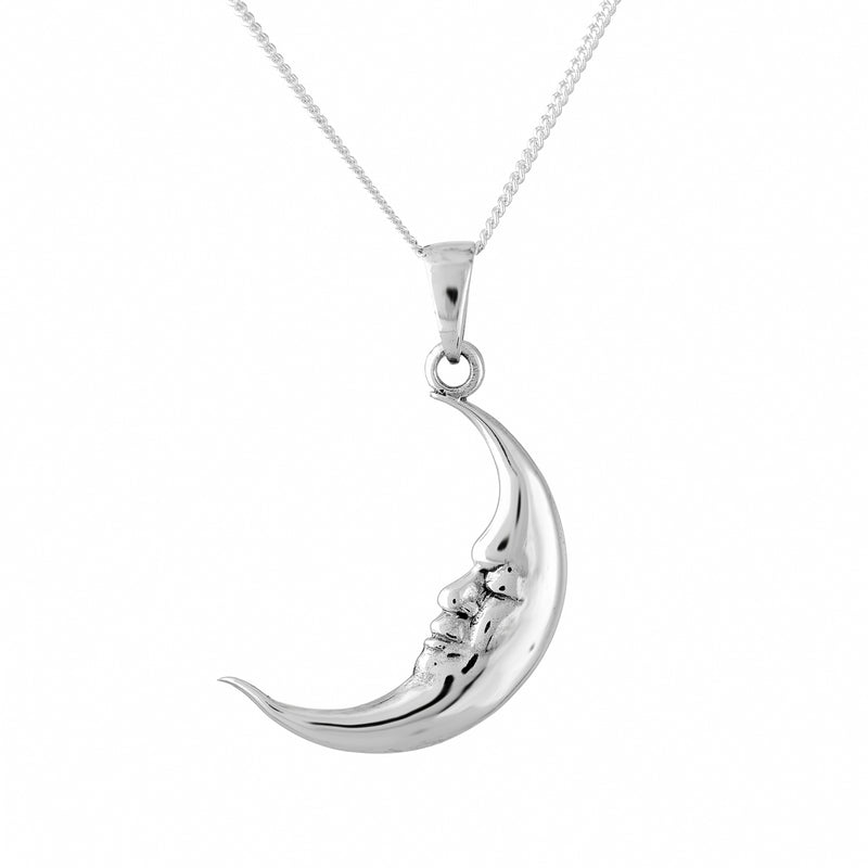 Sterling silver vintage moon necklace witchy alternative jewellery jewelry