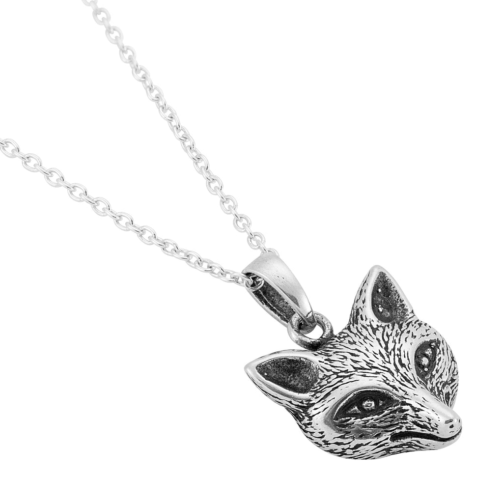 Sterling silver fox necklace gothic boho bohemian witch jewellery jewelry