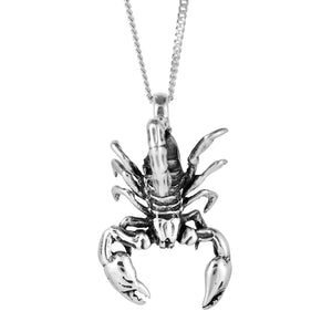 Sterling silver scorpion necklace gothic alternative jewellery jewelry