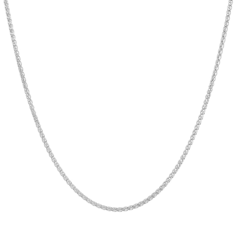 SIMPLE SPIGA CHAIN - STERLING SILVER NECKLACE