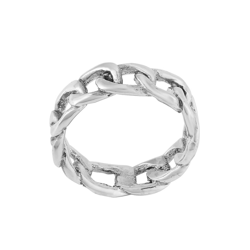 CHAINED - STERLING SILVER RING