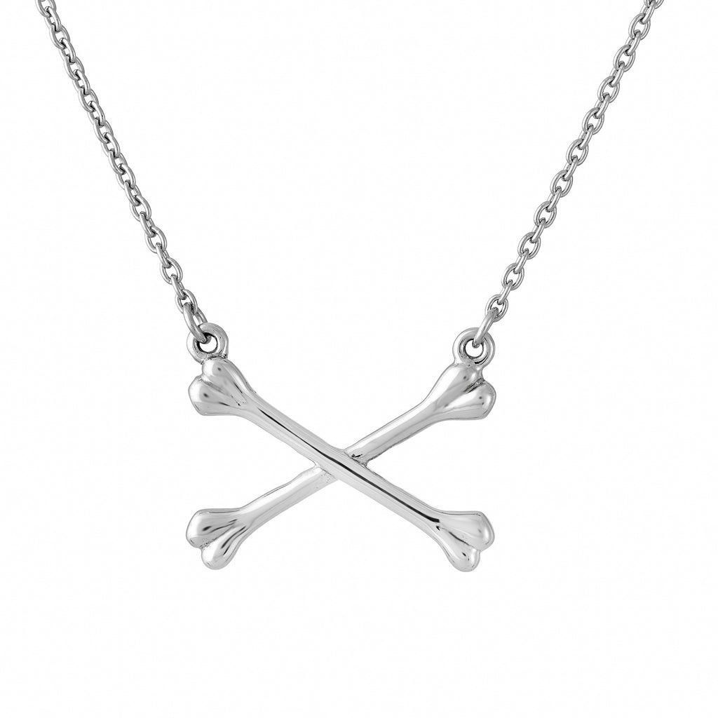 Sterling silver gothic alternative cross bones necklace jewellery