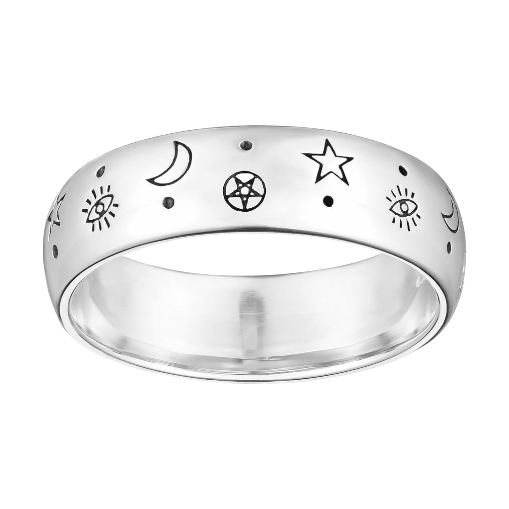 Sterling silver witch wicca witchcraft ring