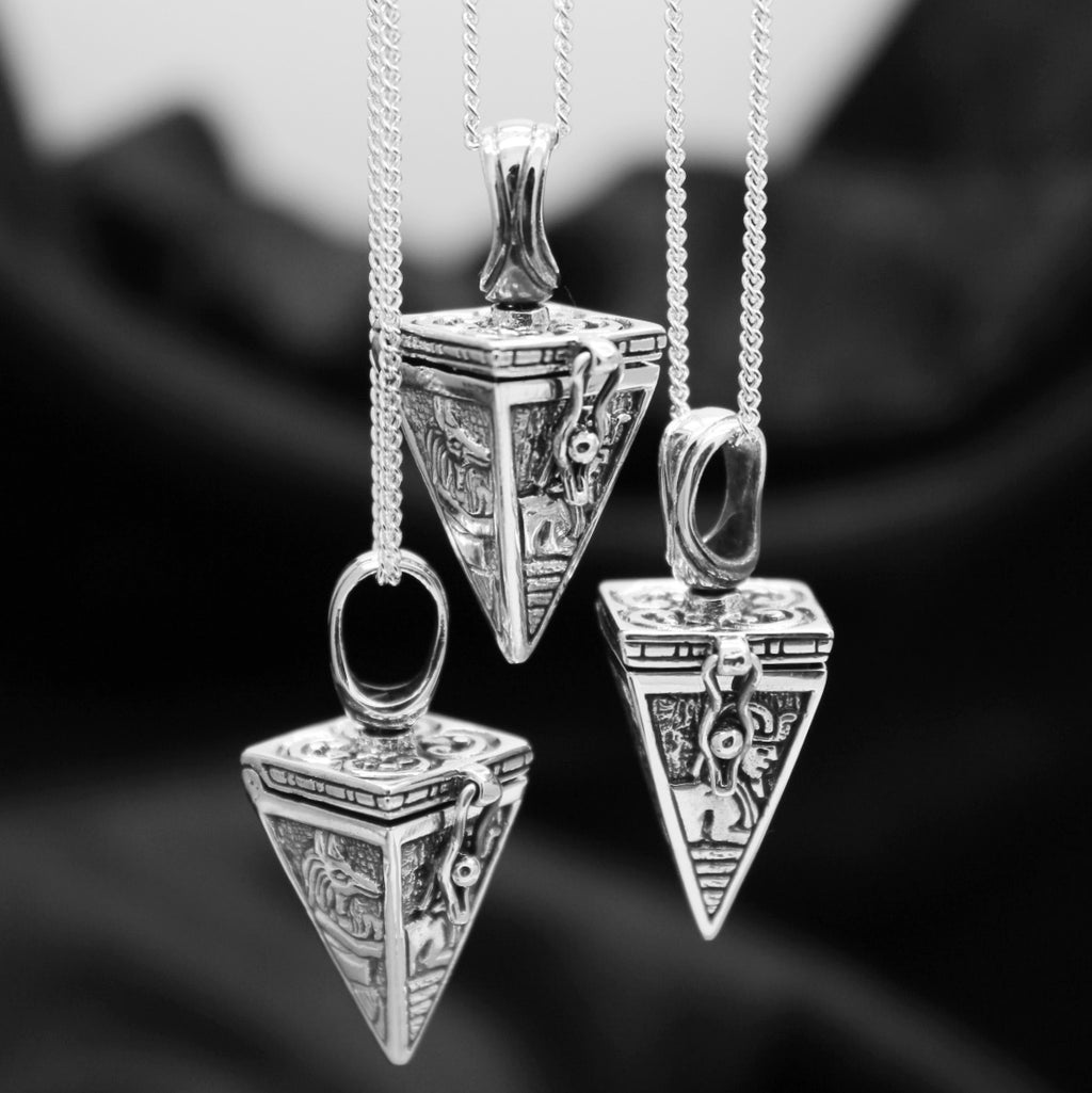 Sterling silver Egyptian locket pendant alternative sterling silver jewellery jewelry