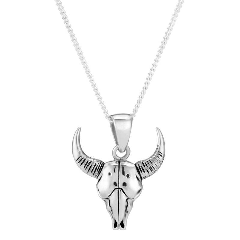 SACRED STEER - STERLING SILVER NECKLACE