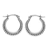 Sterling silver boho bohemian alternative hoop earrings