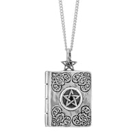 Sterling silver spell locket gothic alternative witchy wicca jewellery jewelry