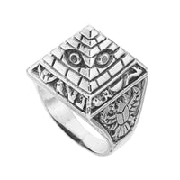 Sterling silver Egyptian pyramid ring unusual alternative biker boho jewellery