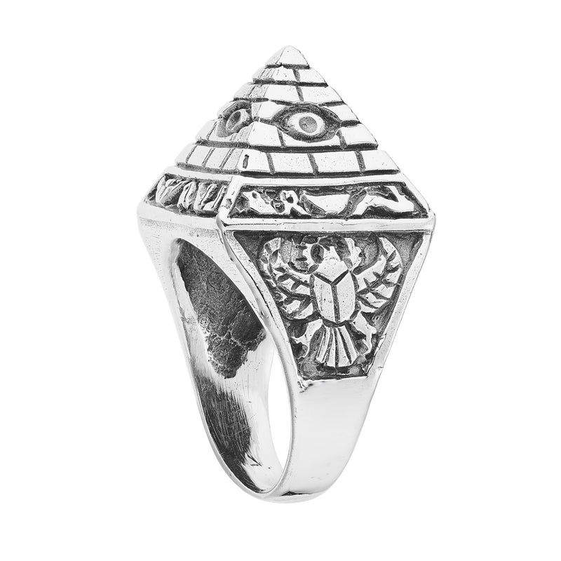 THE PYRAMID - STERLING SILVER RING