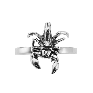 Sterling silver scorpion ring alternative gothic tattoo jewellery jewelry