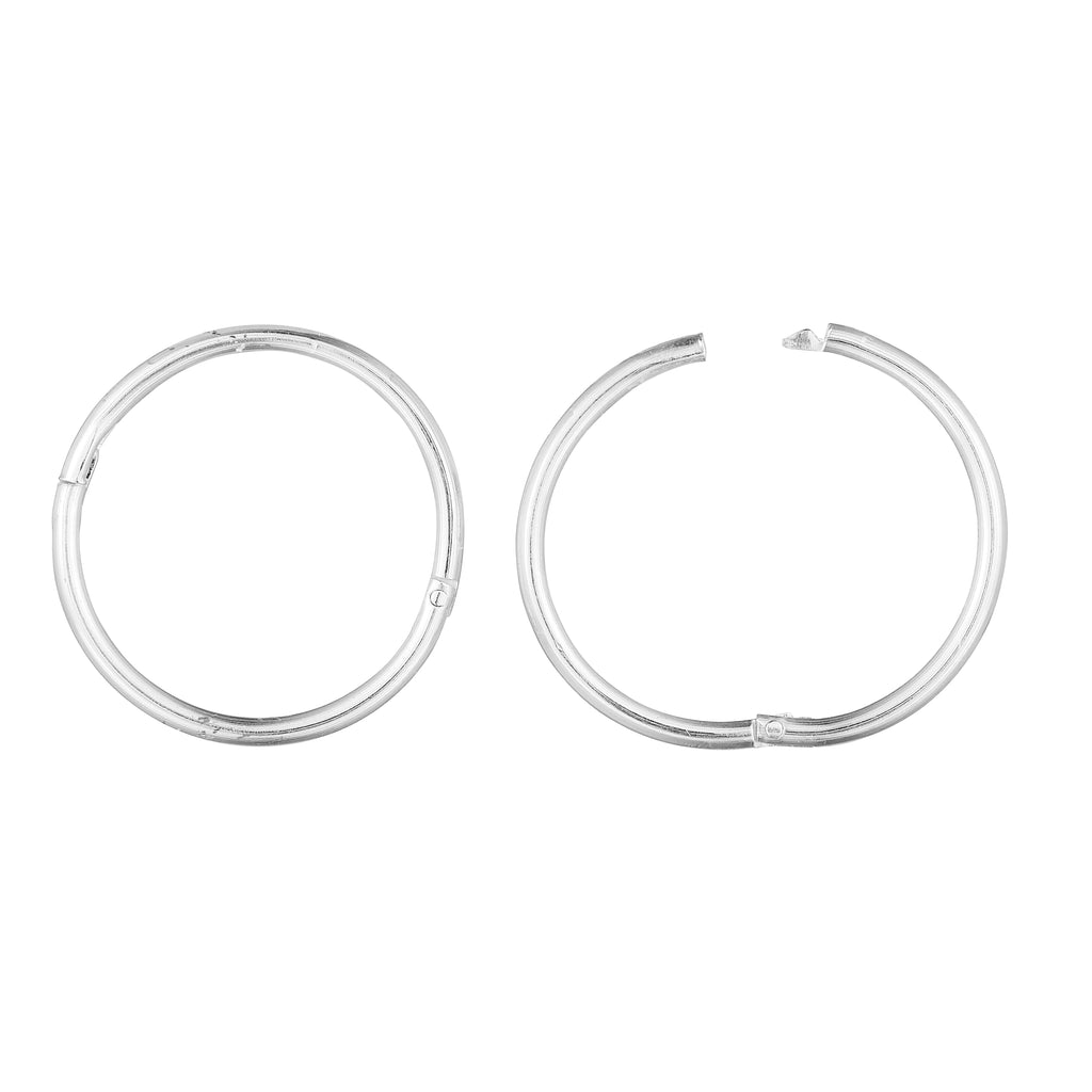 ON POINT - STERLING SILVER HOOPS