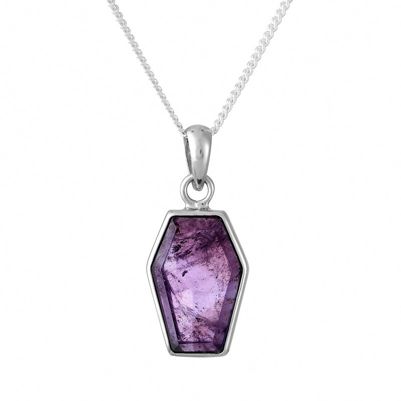 TILL DEATH - STERLING SILVER & AMETHYST NECKLACE