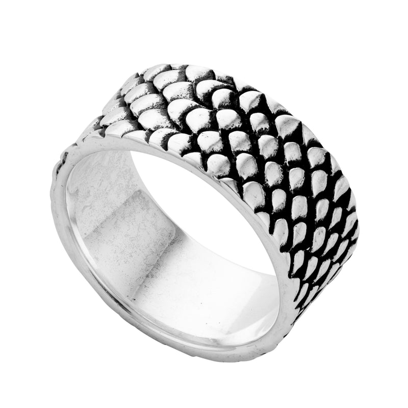 Sterling silver snake band ring alternative gothic  biker jewellery jewelry