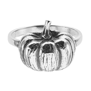 Sterling silver gothic spooky Halloween pumpkin ring gothic alternative jewellery