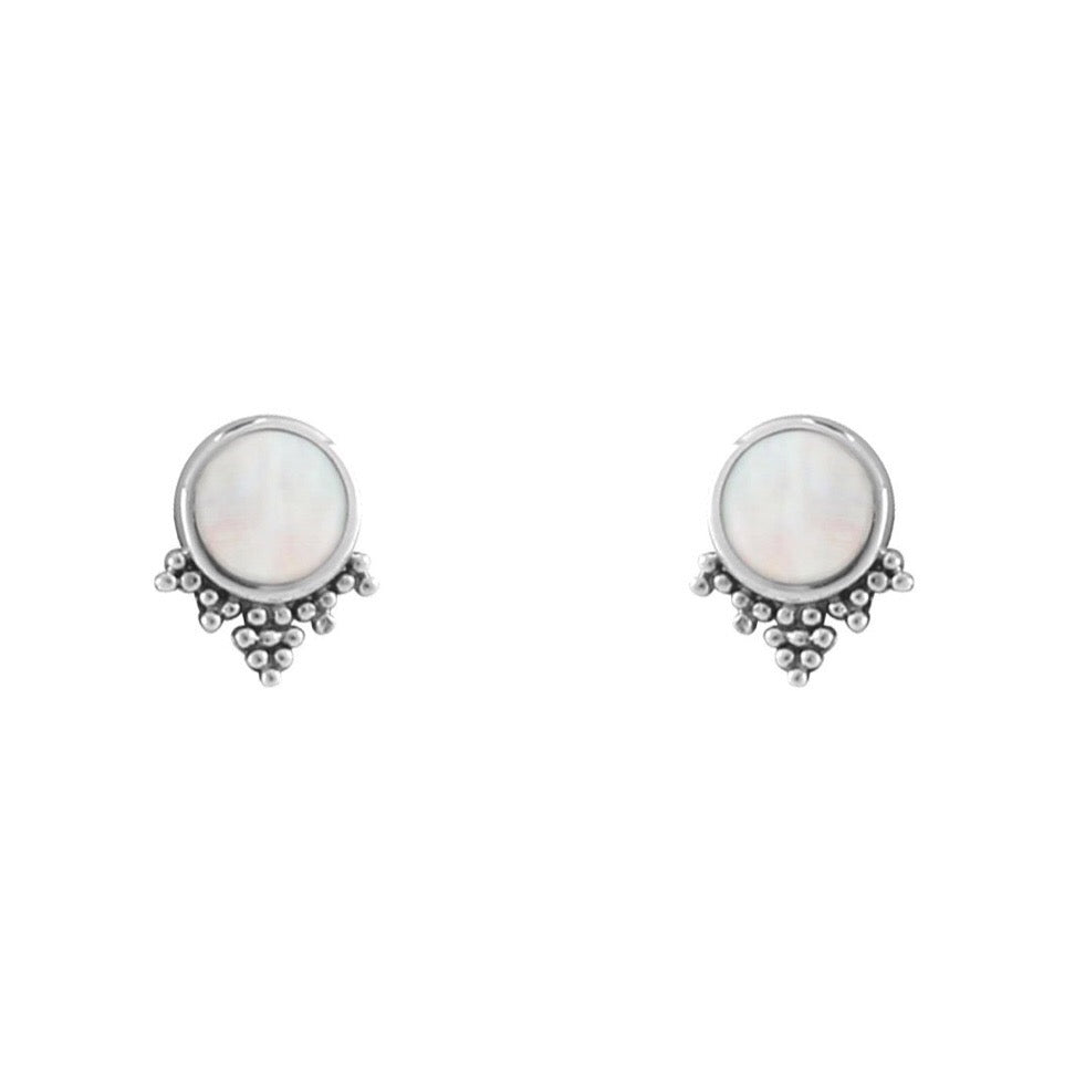 Sterling silver boho bohemian earring studs alternative jewellery jewelry