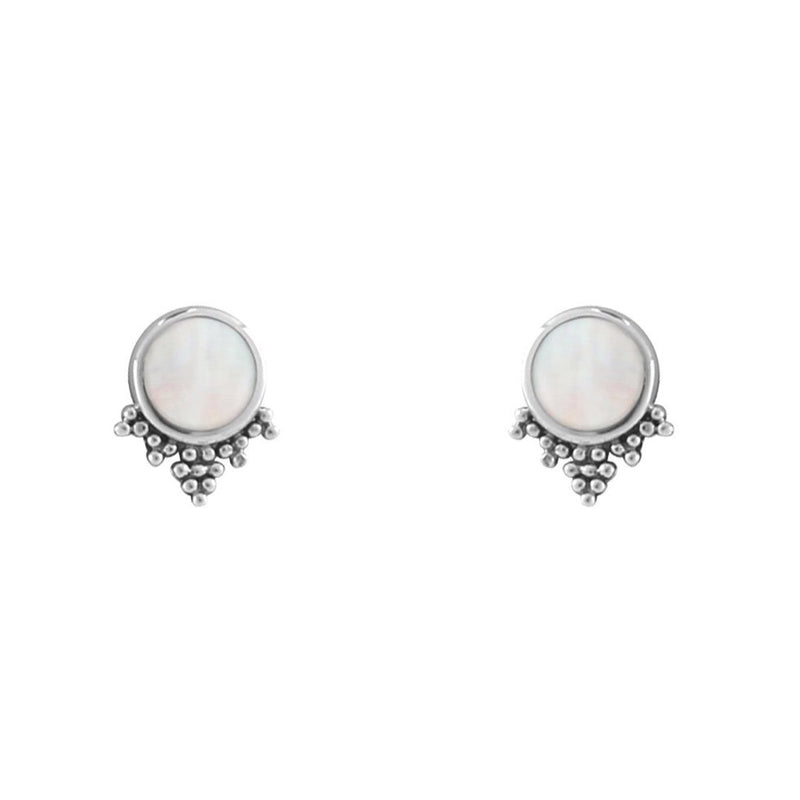 MYSTIC MIRROR ~ MOTHER OF PEARL STUDS
